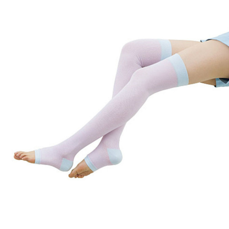 Fshion Design Sleeping Compression Socks Candy Colored Pressure Elastic Ankle Socks for Woman AA10035