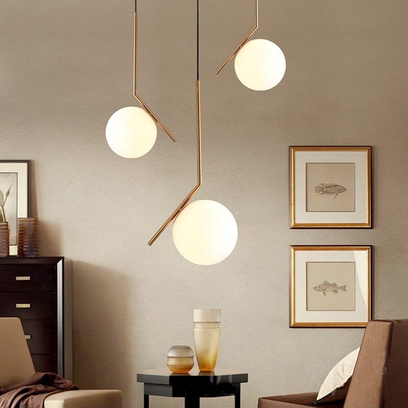 Современный подвесной светильник ресторан бар сферические подвесные светильники Спальня Стекло светодиодные светильники подвесные один