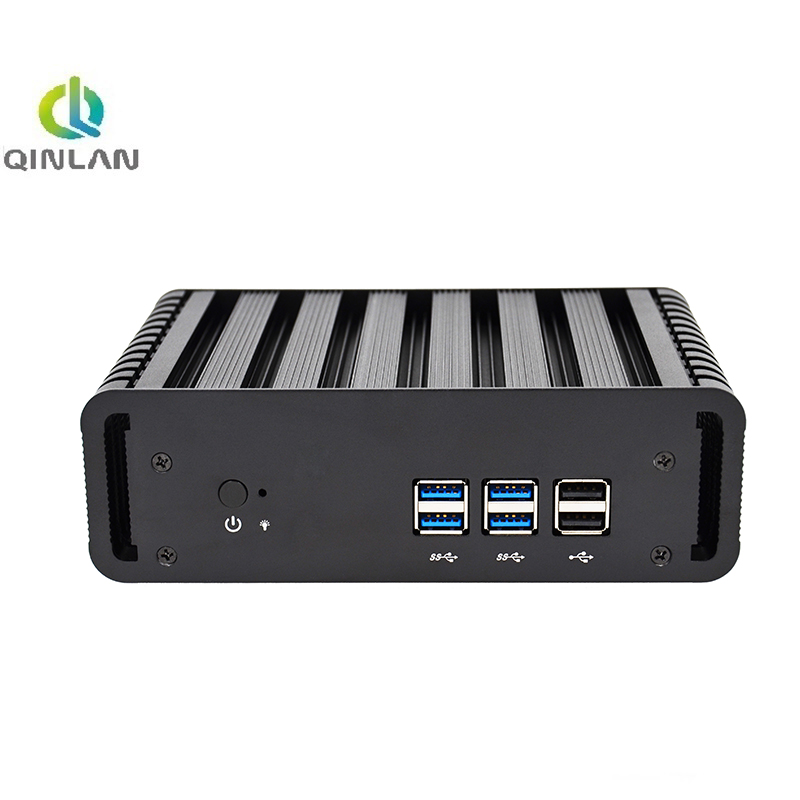 QINLAN Fanless Mini PC With Intel Core i7 5500U HD Graphics 5500 Support VGA HDMI Powerful