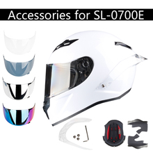 Аксессуары заднее крыло и козырек для SL-0700E полный шлем мотоцикла