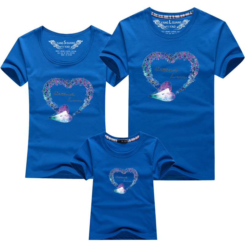 HTB1j7drPFXXXXatXVXXq6xXFXXX2 - Mommy and Me Clothes Family Look Summer LOVE Ggarland Pattern Family T Shirt Father and Son Clothes Family Matching Outfits