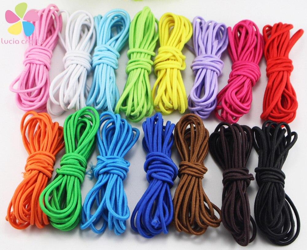 Clever Lucia Handwerk 2 farben Als Bild Zeigt 013006022 2y/15y 2mm Elastische Nylon Schnüre Schmuck String Seile Handwerk