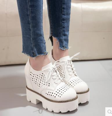 2017Summer Platform Oxfords Silver Creepers Cut Out Platform Shoes Woman Lace Up Flat Round Toe Casual Women Shoes phyanic 2017 gladiator sandals gold silver shoes woman summer platform wedges glitters creepers casual women shoes phy3323