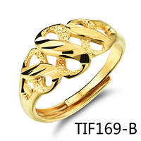 Concise Fashion Bride Jewelry Exquisite Hollow Out Eight Figure Plating Ma Am Ring KJ030 TIF169