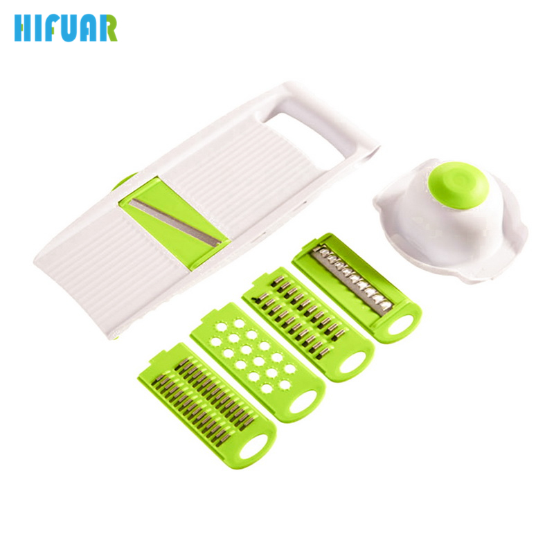 HIFUAR High Quality 6pcs/set Shredder Slicers Stainless Steel Fruit Cutting Vegetables Grater Cut Potatoes Carrot Cucumber Wire