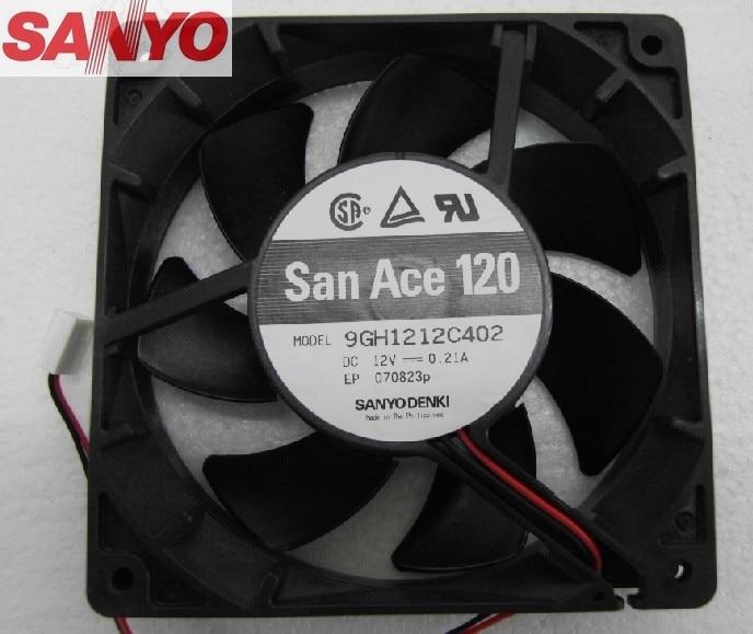 цена на original Sanyo 9GH1212C402 12025 12cm DC12V 0.21A  Dual Ball Quality Assurance Cooling Fan