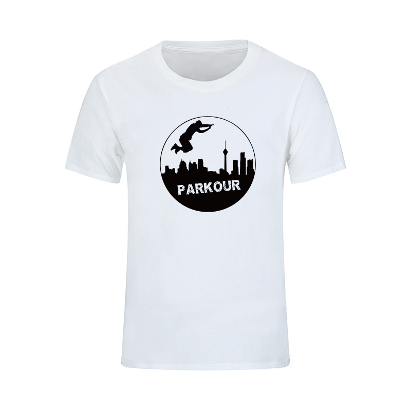 여름 스타일 남자 Parkour 짧은 소매 T 셔츠 남자 멋진 인쇄 패션 힙합 T- 셔츠 2017 브랜드 코튼 O- 넥 탑스 티셔츠