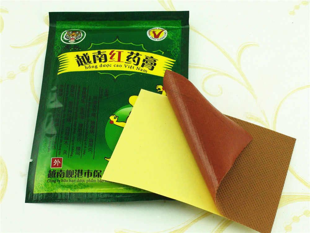 48 pièces/6 sacs Vietnam rouge baume du tigre traitement plâtre épaule Muscle articulation douleur raide Patch soulagement soins de santé C077