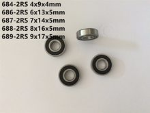 10 Pcs 684-2RS 685-2RS 686-2RS 687-2RS 688-2RS 689-2RS Mini Lager Diepe Groef Rubber Sealed Miniatuur Lager Kogellagers