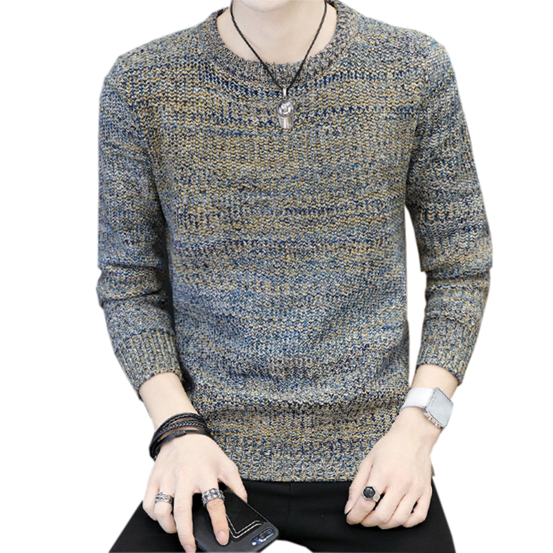 Sweater Men Thick Pullover Sweater Male O-Neck Slim Fit Knitting Men Sweaters Man Spring Autumn Pullover Men Sweaters 3XL FP1613