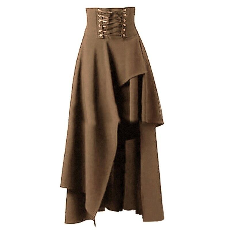bcd945513cd Hot Sale Long Skirt Women Fashion Lolita Strap Black Gothic Skirts ...