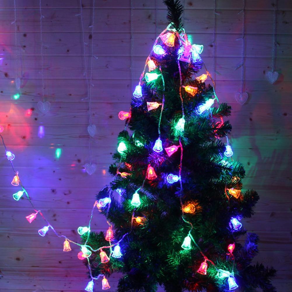 12m christmas bell lights outdoor light garland wedding string light fairy lighting new years product in lighting strings from lights lighting on