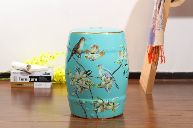 China Elegant Style Home Decorative Antique Drum Ceramic Garden Stool