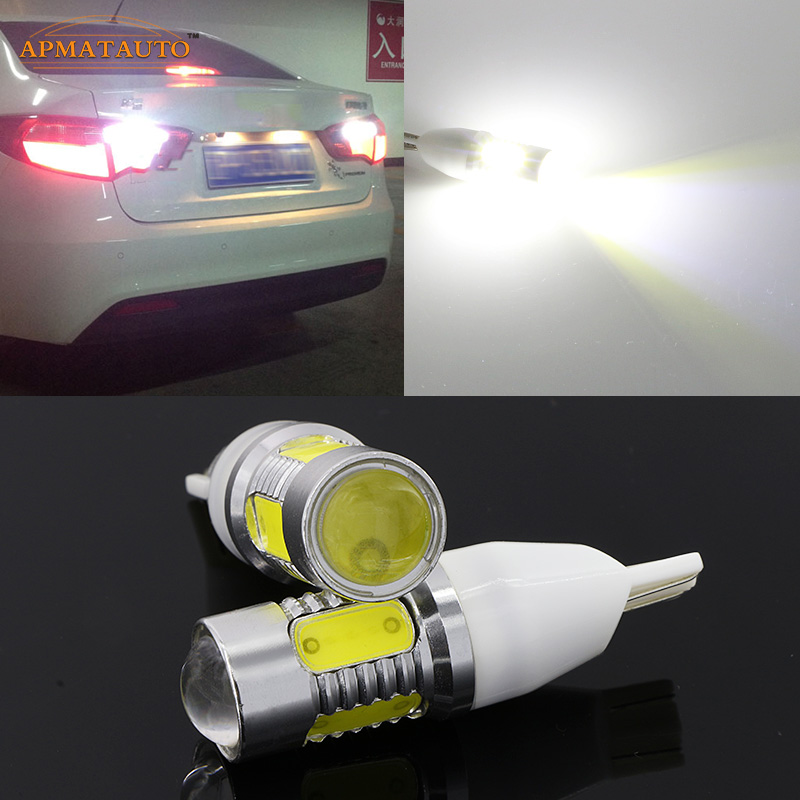 2 x T15 W16W White 6000k Plasma LED Projector Blub Tail Backup Reverse Rear Lights For Kia Sportage Sorento Forte K2 K3 K4 K5