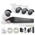 Annke 4ch nvr 960 p red ip poe video record ir kit de sistema de cámaras de seguridad cctv home video vigilancia al aire libre