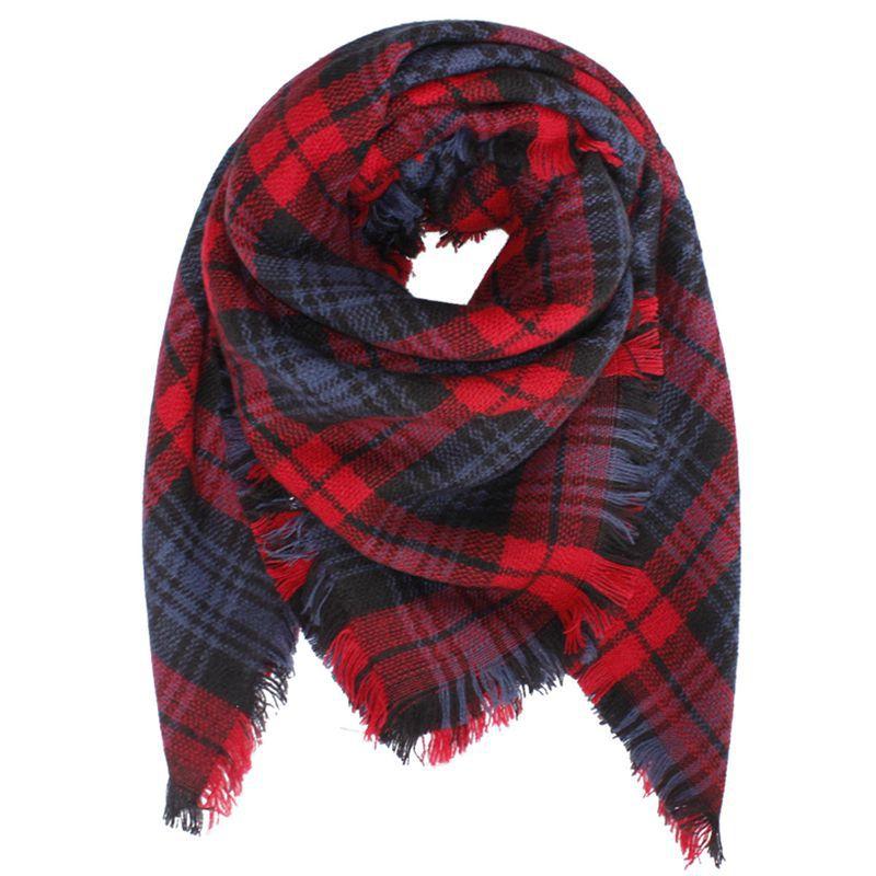 2016 Winter Scarf font b Tartan b font Plaid Cashmere Scarf Pashmina New Designer Kids Blanket