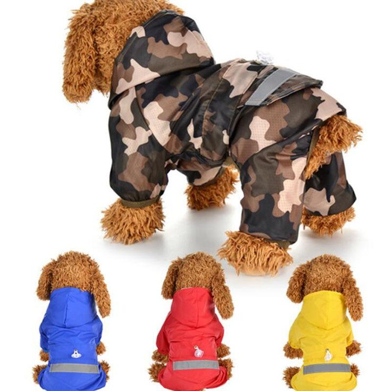 font b Pet b font Dog Camouflage Raincoat Two Feet Reflective Jumpsuit font b Pet