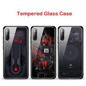 Image 5 - Роскошный чехол из закаленного стекла для Xiaomi Mi 9, чехол из ТПУ с мягкими краями для Xiaomi Mi 9 Mi9 se, чехол Aixuan