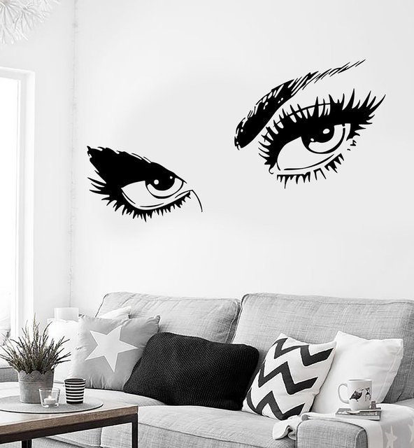 Good Sexy Hot Eyes Girl Wall Stickers Teen Woman Decal For Living Room Decor  Removable Self
