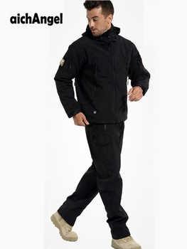 AichAngeI 防水ソフトシェルの男のジャケットのスーツの男性迷彩軍事戦術的な衣類軍迷彩制服 militar セット - DISCOUNT ITEM  25% OFF ノベルティ & 特殊用途