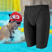 Quick Dry Swimwear di Squalo Fastskin Uomo Impermeabile Lungo Nuoto tronco di Nuotata degli uomini Jammers Plus Size Costume Da Bagno costumi da bagno
