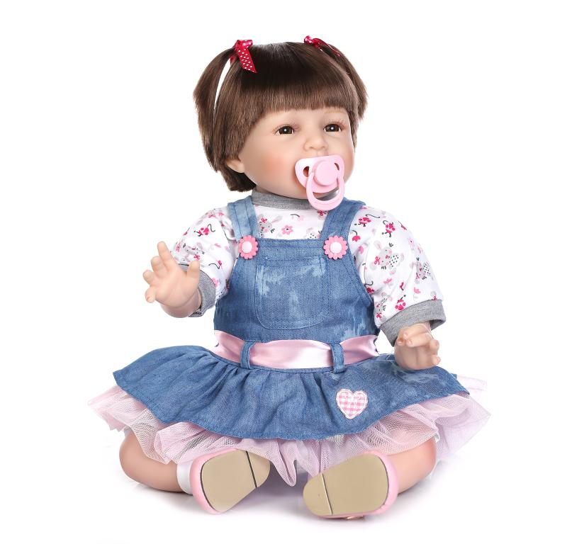 21 52cm Cheap Dollar Vinyl Adora Lifelike Newborn Baby Bonecas Bebe Kid Toy Cowgirl Silicone Reborn Dolls In From Toys Hobbies On