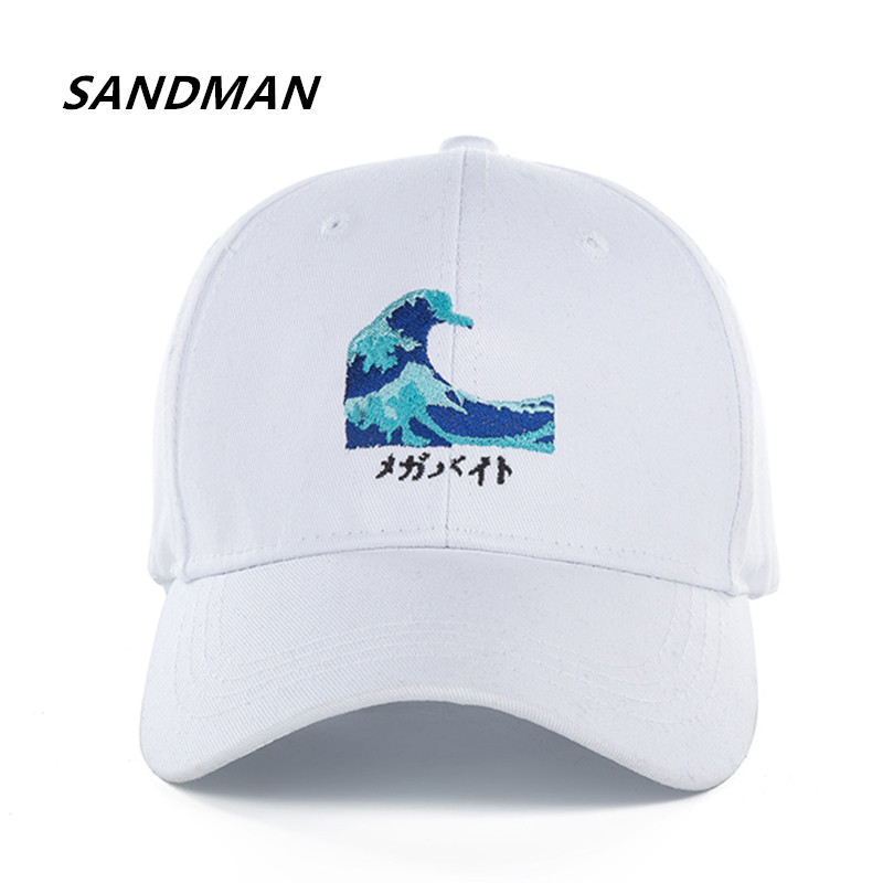 SANDMAN High Quality Cotton Waves Snapback Cap Baseball Cap For Men Women Hip Hop Dad Ha ...