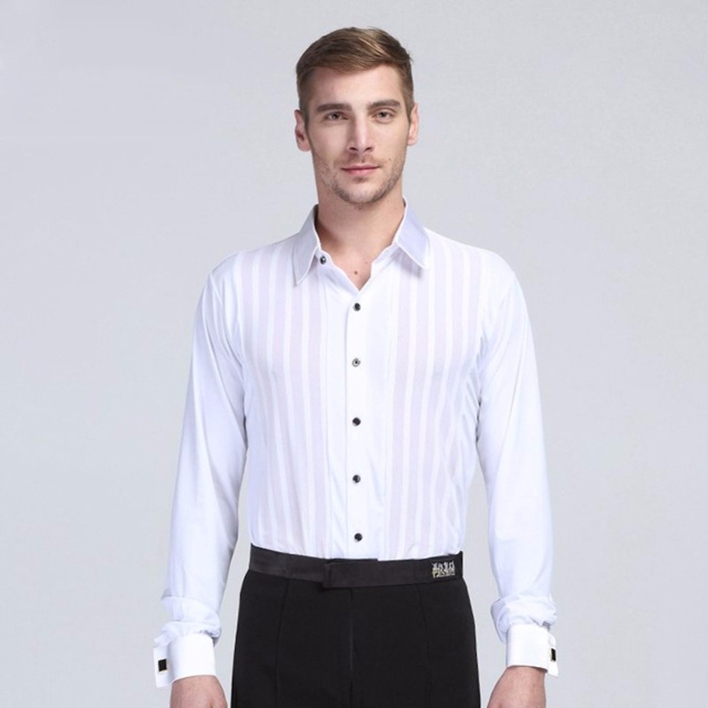 Latin Dance Shirts For Men Clothing For The Waltz Roupas De Franja Ballroom Dancewear Vestidos De