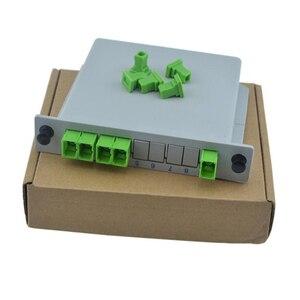 SC APC PLC 1X4 FTTH Fiber Optic Splitter Box 1X4 SC PLC Splitter Planar waveguide type Optical Coupler Splitter Free shipping