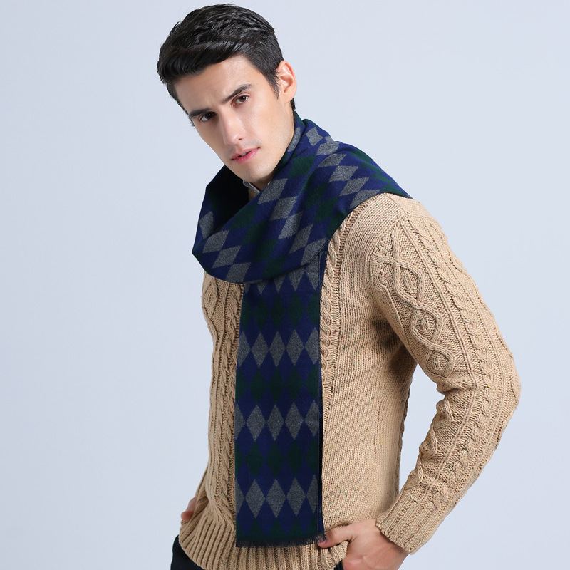 Men's Scarves Cooperative Scarves Mens Scarf Winter Warm Wool Ponchos And Capes Cotton Pashmina For Ladies For Dress Scarfs 2017 New High Quality Casual Warm And Windproof