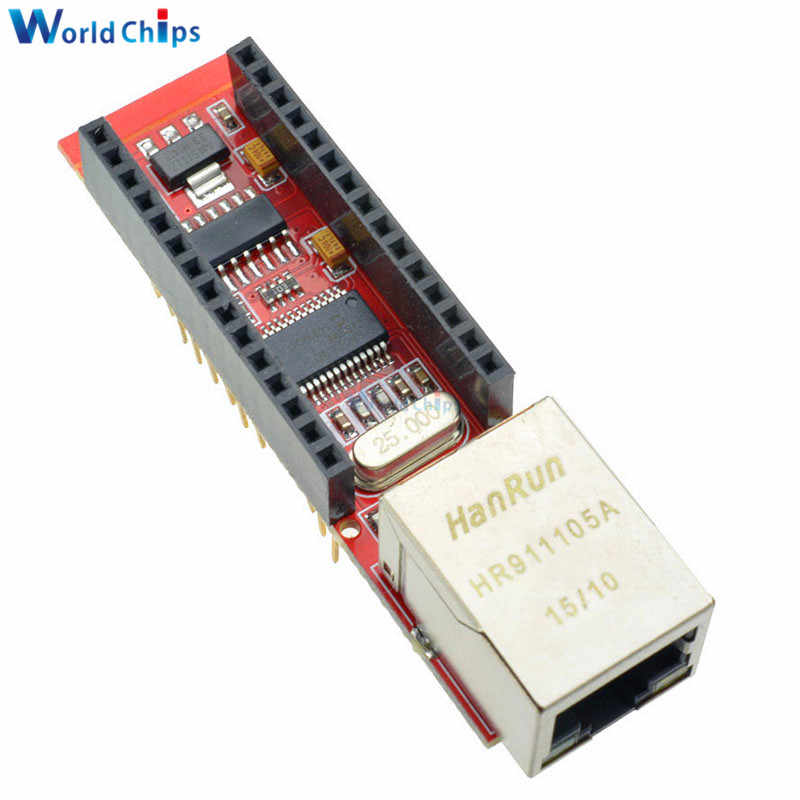 diymore ENC28J60 Ethernet Shield V1 0 Nano 3 0 RJ45 Webserver Module For  Arduino Nano V3 Microchip HR911105A Board With Pins