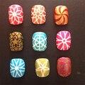 Novo Design 1 Folhas Flor Do Coração Oco Out DIY Nail Art Stamping Stencil Reutilizável Adesivo