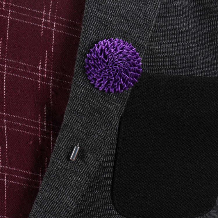 Penjahit Smith Desainer Solid Bentuk Bunga Kerah Pin Top Fashion Pria Kasual Setelan Boutonniere Stick Bros Buatan Tangan Aksesoris