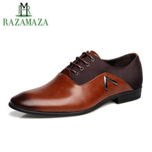 ZALAVOR Big Size 38-48 Dress Pointed Shoes Business Men's Basic Casual Shoes Black Brown Leather Elegant Design Handsome Shoes(China)
