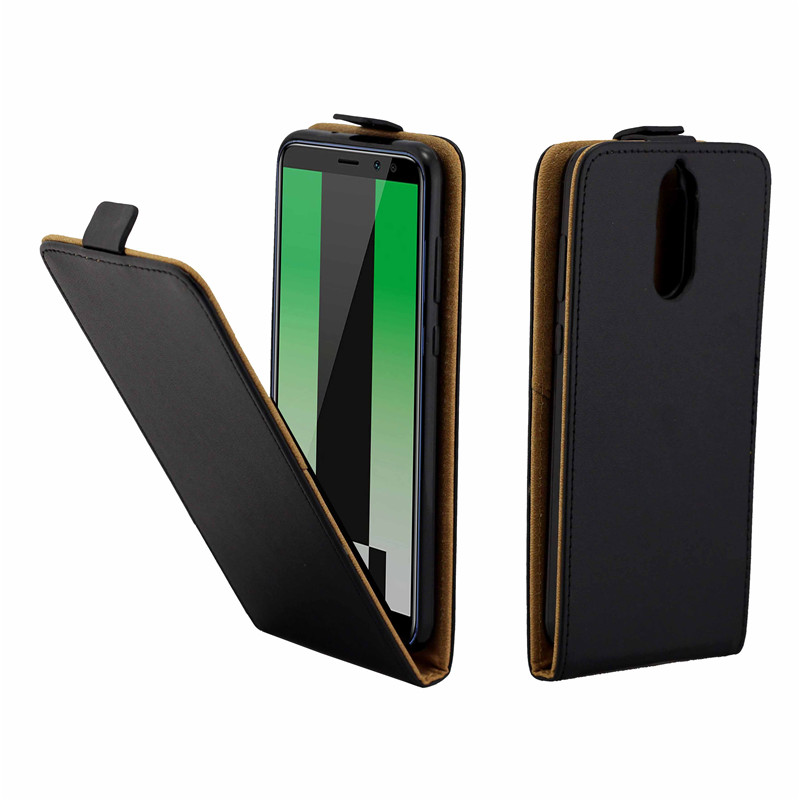 Business Leather Case For Coque Huawei Mate 10 Lite/Nova 2/Honor 9i/Maimang 6 Vertical Flip Cover Card Slot Cases Phone Bags