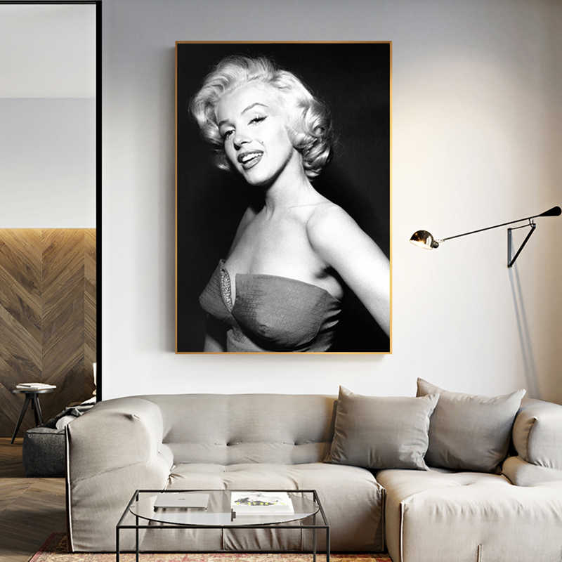 Canvas Printed Wall Art Home Decoration Pictures Marilyn Monroe Painting Modular Abstract Modern Nordic Poster For Living Room