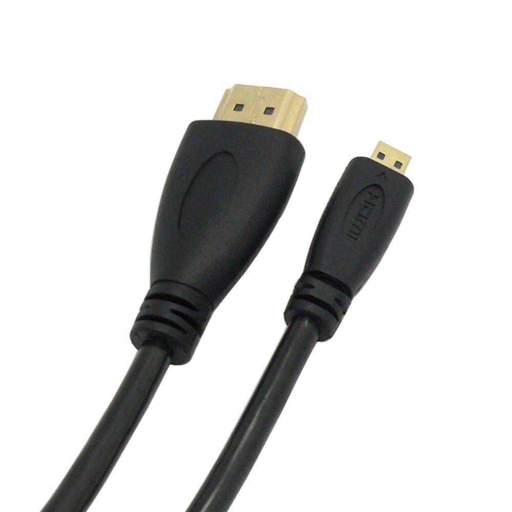Micro HDMI Male to HDMI Male Cable Lead Cord Wire 1080p Spring ...