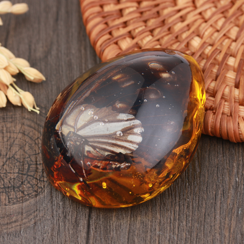 1 шт. модные натуральные насекомые Янтарный каменный орнамент оригинальность скорпионы бабочка пчела краб украшения DIY ремесла кулон подарок