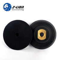 Z LION 4 100mm Rubber Backer Pad Copper Joint M14 Or 5 8 11 Professional Polishing
