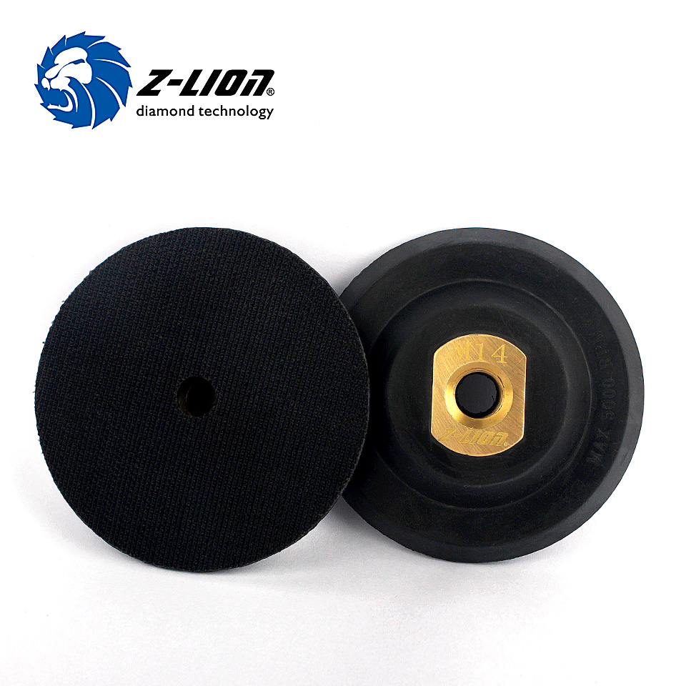 Z-LION 4 100mm Rubber Backer Pad Copper Joint M14 Or 5/8-11 Professional Polishing Tool Rubber Based Backing Pad Plate Backer spta 29pcs drill buffing buffer detail polishing polisher pad kit 5 8 11 m14 thread backing backer plate pad