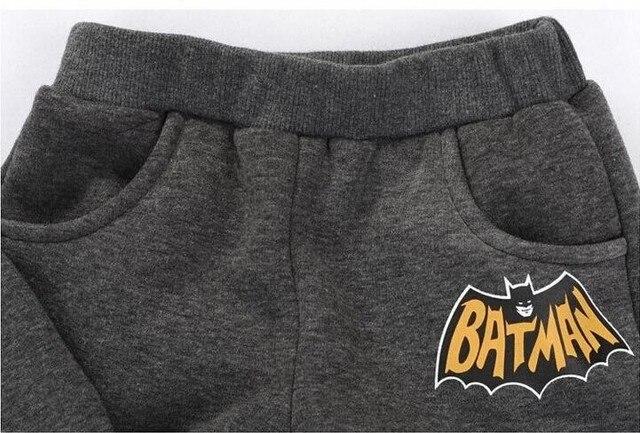 batman set baby boys clothing set children hoodies pants thicken winter warm clothes boys girls sets 2016 autumn new arrival 4