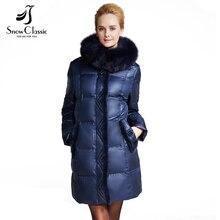 Snowclassic Parka Women Winter Down Coat Female Plus Size 6xl Jacket Real Fox Fur Collar Coats Winter Jacket Women 14371