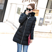 Women Winter Down Jacket Hooded Solid Color Warmer Cotton-padded Outerwear Parka Thicken Large Size High-end Ms Jacket Coat