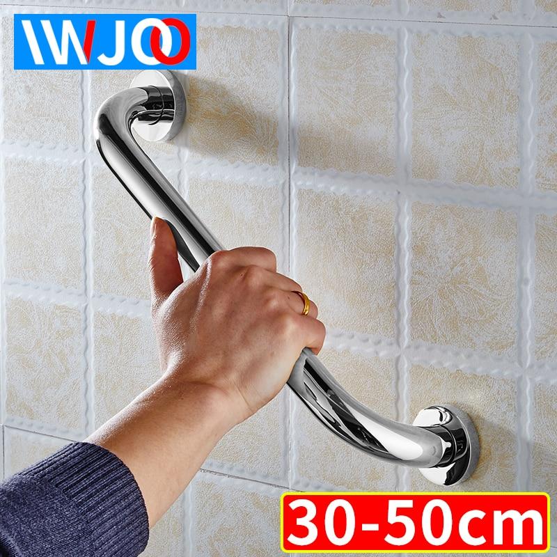 Pasamanos de seguridad de baño IWJOO para personas mayores discapacitados de acero inoxidable, soporte para bañera de baño, soporte para toallero de pared
