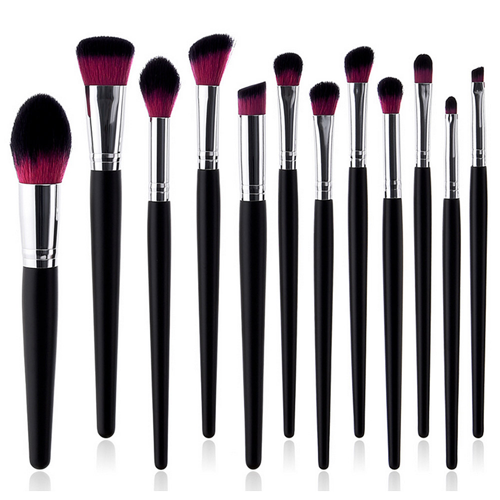 12 <font><b>pieces</b></font> Professional <font><b>Makeup</b></font> <font><b>Brushes</b></font> <font><b>Set</b></font> Powder Foundation Eyeshadow Make Up <font><b>Brushes</b></font> <font><b>Cosmetics</b></font> Tool image
