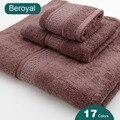 3 PC toalha de ROSTO 100% ALGODÃO TOALHA de MÃO TOALHA DE BANHO TOALHAS de BANHO Set 16 Cores Beroyal