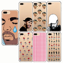 Crying Aubrey Drake Graham Hotline Bling Soft Silicon Phone Cases Cover for iphone 6 7 8  X 5 8PLUS 7PLUS 6S 5S XE 6PLUS XR