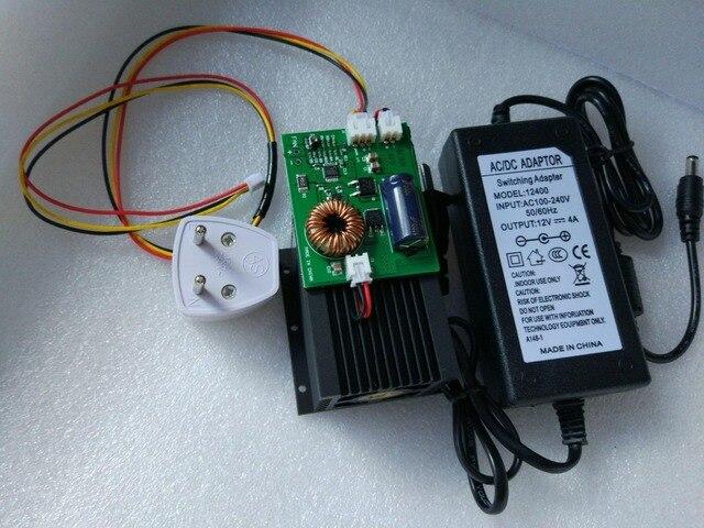 מתח גבוה 10 w מודול לייזר, 10000 mw אור כחול ראש הלייזר, חרט לייזר DIY, 450nm DIY מכונת חריטת לייזר