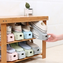 10Pcs Creative Double-layer Home Shoes Storage Rack Adjustable Space Saving Shoes Bracket Household Shoes Support Home Organizer