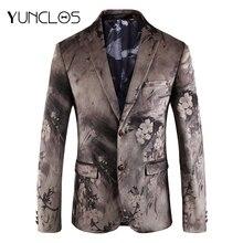 YUNCLOS  Wedding Blazer for Men Slim Fit Men's Wedding Party Suit Jackets Mens Elegant Floral Blazer Jackets blazer masculino